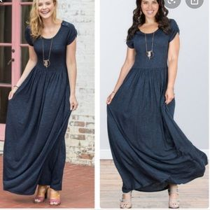 Matilda Jane Deep Water Maxi Dress Sz XS